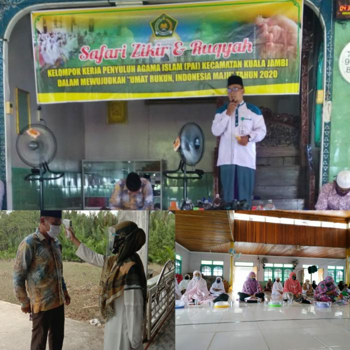 Terapkan Protokol Kesehatan, KUA Kuala Jambi laksanakan penyuluhan majelis taklim serta Zikir dan Ruqyah