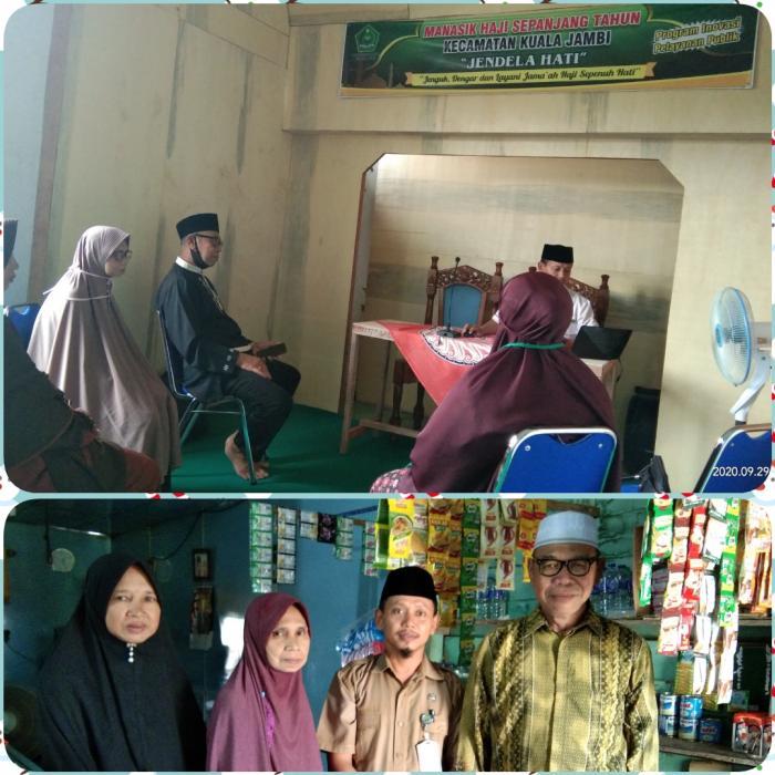 KUA Kec. Kuala Jambi Adakan Manasik Haji