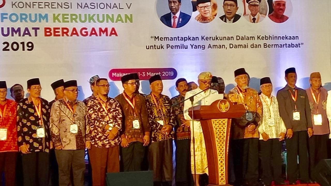Kakan Kemenag Hadiri Konfersi Nasional FKUB di Makassar